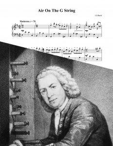 Bach ária para corda sol