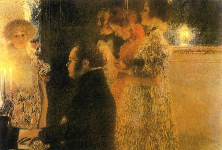 Schubert – Ständchen (Serenata), D. 921 aan-de-piano-gustav-klimt
