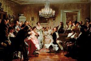 Schubertiades, tela de Julius Schmid, 1987