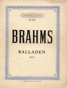 Brahms - Quatro Baladas, Op. 10
