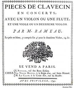 Rameau peças para teclado