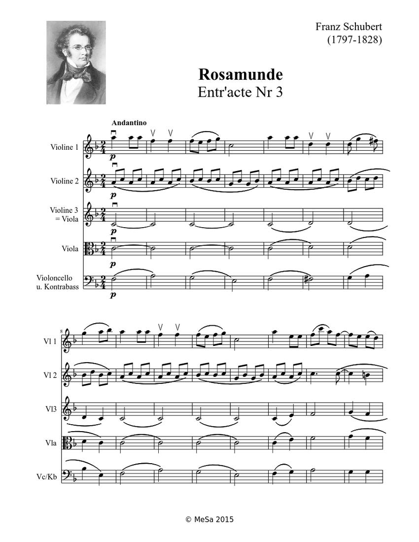 3º Entreato de Rosamunde